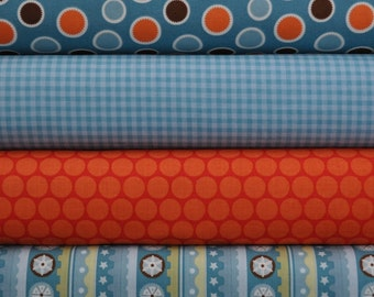 Mod Tod Orange Fat Quarter Bundle by Sherri Berry Designs for Riley Blake, 1 yard total