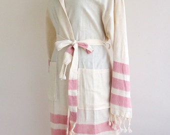 Hooded Bathrobe Turkish Bathrobe Bath Beach Robe Organic Bathrobe Bridesmaid Robe For Her Him Kimono Men Women Robe Hospital Gown