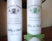 Claddagh Wedding 3 Piece Unity Candle Set - WHITE with a Wick or Tealight Insert