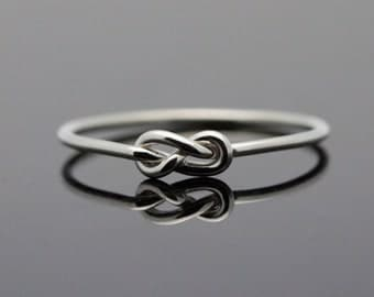 Infinity ring. Sterling Silver knot ring. Best friends ring sister jewelry, promise ring. midi ring stackable stacking