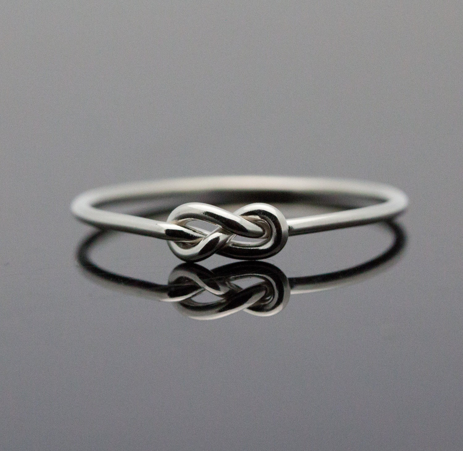 Infinity ring. Sterling Silver knot ring. Best by ...