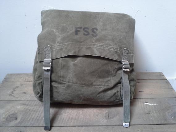 Vintage Us Forest Service Canvas Backpack Rucksack