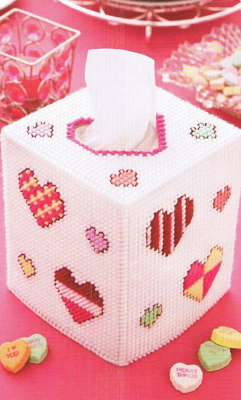 Hearts Cute Amp Happy Tissue Box Cover Plastic Canvas