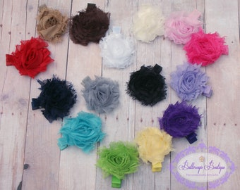 Flower hair bow, hair bow set, girl hair bow, flower hair clip, girls hair bow, baby bow, infant bow, you choose colors