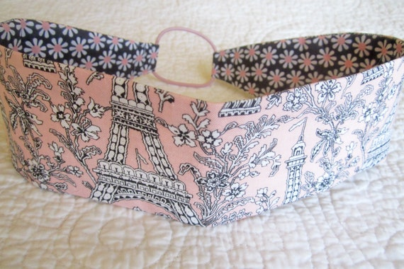 Girls Reversable Headband in Eiffel Tower