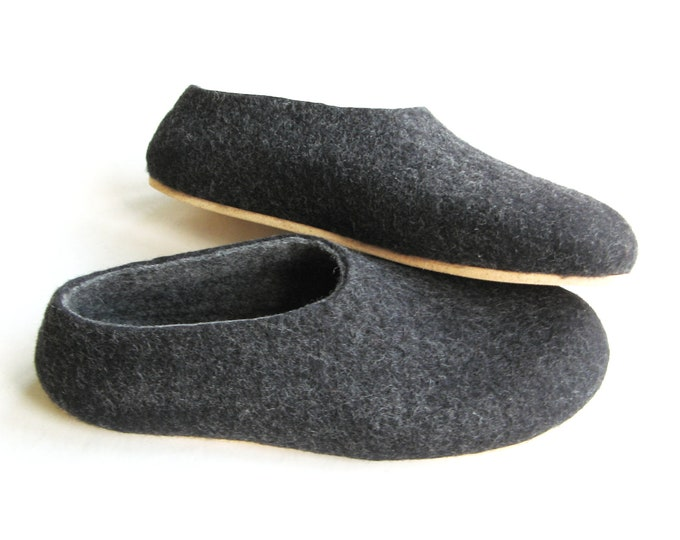 Boiled Wool Shoes, Mens Felted Slippers, House Shoes For Men, Felt Slippers, Sheep Wool Slippers, Mens Clogs, House Boots Slippers, Outdoor