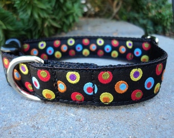 "Dog Collar 1"" wide Quick Release or Martingale collar style adjustable Google"