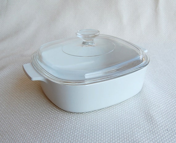 Vintage Corning Ware A-2-B Covered Casserole All White or Just White 2 Liter A 2 B