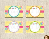 PRINTABLE Polka Dot Party Label Tents #571