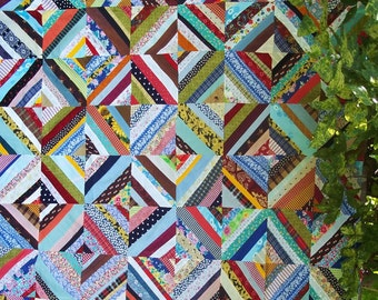 String Quilt Top measuring 52 by 65 inches