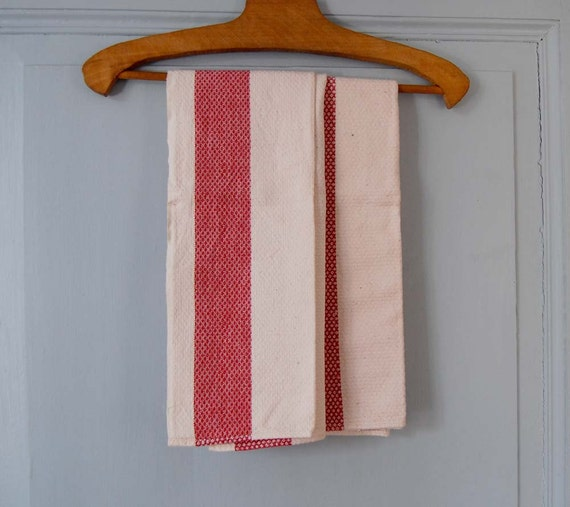 Vintage French Tea Towels - Set of Two