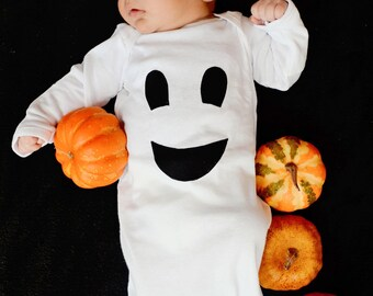 Friendly Ghost Baby Gown Girl Boy Clothing Halloween Ghost Costume