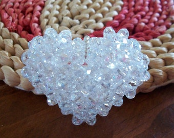 Gorgeous Clear Crystal AB Heart Pendant
