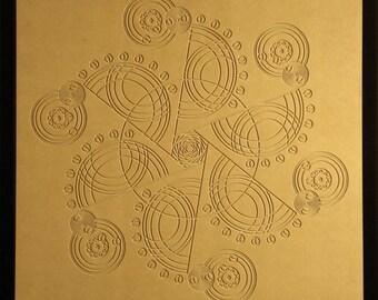 Mid Century Design - Crop Circle Wood Relief - 24x24