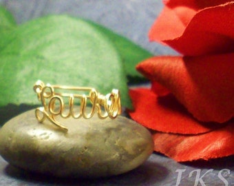 14k Gold Filled Name Ring