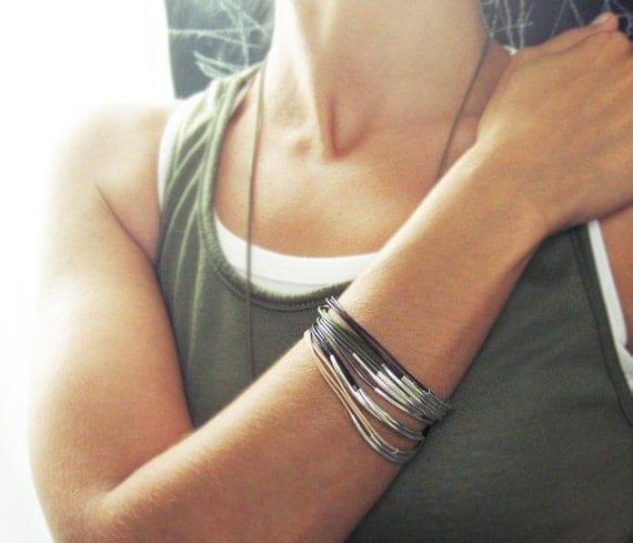 Creamy Nude Leather Bracelet. Leather and Gold Bracelet. Magnetic Clasp Bracelet. Men's Jewelry. Unisex Jewelry.