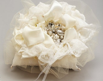 Vintage Lace Ring Pillow