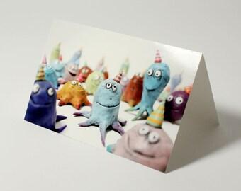 fun card, party invite, birthday invitation, celebration, SQUID PARTY