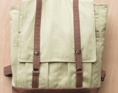 Shadyside Backpack-  Tan with Brown