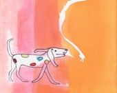 Kids Wall Art dog  Cute Print, Nursery Room Art, Childrens Wall Art, Childs room