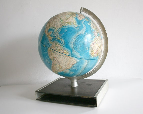 RESERVED for Stephanie Mid Century Globe