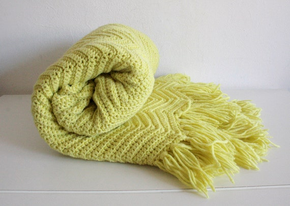 Chartreuse Crochet Afghan