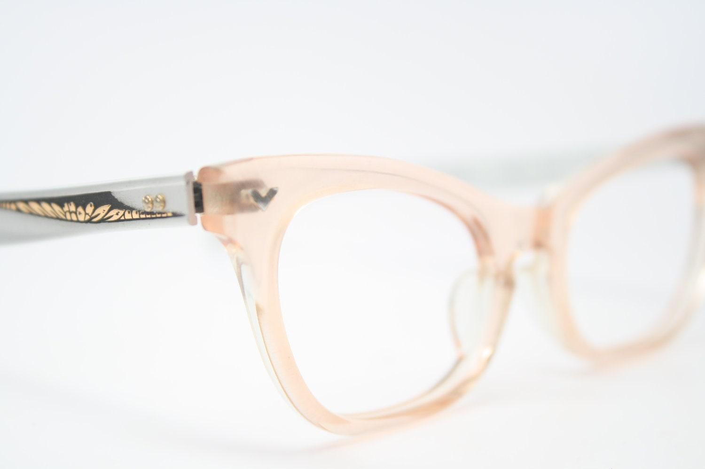 glasses pink silver vintage frames zoom