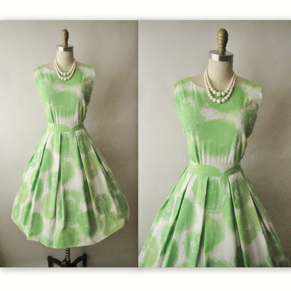 Reserved for Reham 60's Summer Dress // Vintage 1960's Abstract Print Garden Party Mad Men Dress XS