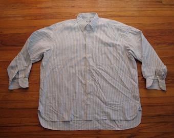 mens ben silver banker stripe shirt