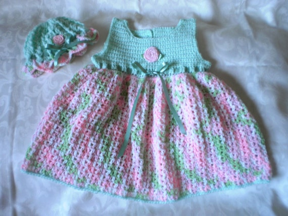 Soft Candy Dress and Hat Set for 18 to 24 Months