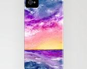 iPhone Case - Sunset Storm Ocean Painting - Designer iPhone Samsung Case