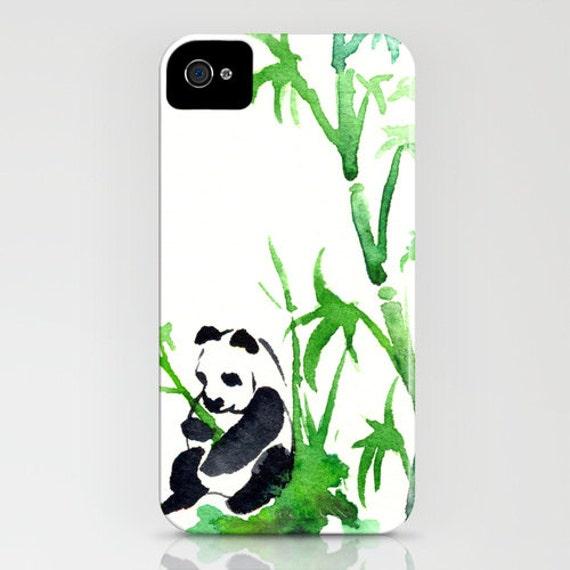 iPhone Case Panda Bamboo Painting - Designer iPhone Samsung Case