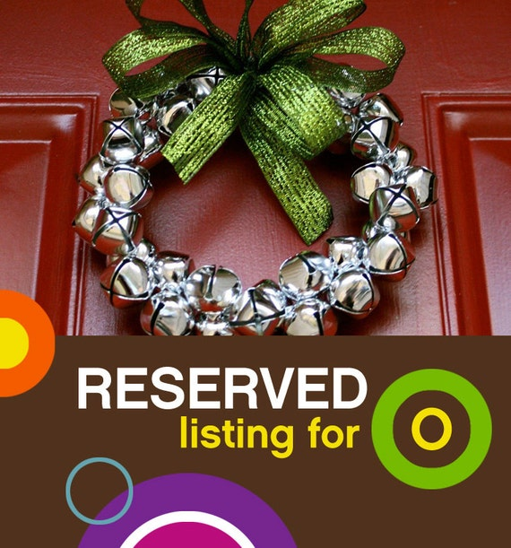 """8"""" Jingle Bell Wreaths Reserved for O"""