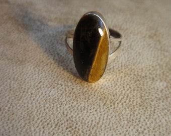 Size 4 Vintage Taxco Tiger's Eye Ring