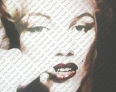 Digital Image Download --Artistically Enhanced Photo of Marilyn Monroe ca. 1950's GLAMOROUS promo Image UNIQUE Vintage Reproduction