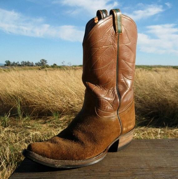 Tony Lama Cowboy Boots Mens 10.5