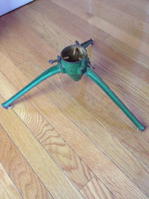 Great vintage metal christmas tree stand by ilovecollecting