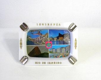 Vintage Rio De Janeiro Souvenir Ashtray