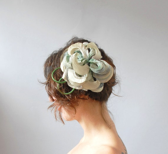 1960s Fascinator / Fronds Hair Comb