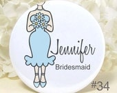 Pocket Mirrors - Bridesmaid Gifts - Bridal Party Gift - Wedding Party Favors - Personalized