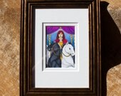 Framed Original Art of the Incidental Tarot - no. 7 The Chariot