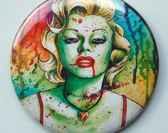2.25 inch Pocket Mirror - Marilyn Monore Zombie Doll