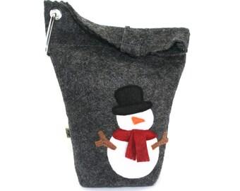 Dog Leash Bag Little Snowman