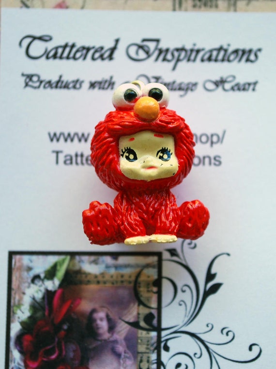 Baby in Elmo Costume Acrylic Charm for scrapbooking and creative crafts