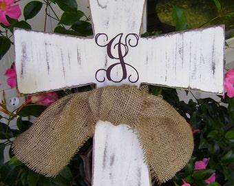 Cross,Monogram Wooden Distressed cross