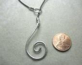 Sterling silver chunky swirl clasp choker