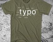 Typography Shirt Helvetica Font Sans Serif - ON SALE!