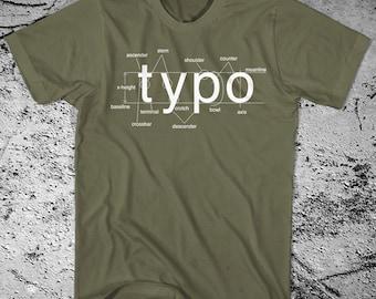 Typography Shirt Helvetica Font Sans Serif Free Shipping