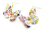 Teen Girl Jewelry Rockstar Energy Teen Girl Gift Recycled Soda Can Jewelry Butterfly Earrings Tween Jewelry - E25