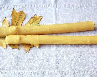 Beeswax Faux Bois Branch - 11 inch